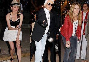 Karl Lagerfeld, Vanessa Paradis et Diane Kruger jouent à la pétanque !