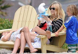 Kate Hudson et Matthew Bellamy, repos bien mérité à la plage