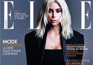 Kim Kardashian en couverture de ELLE cette semaine!