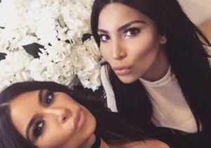 Kim Kardashian pose avec son sosie: qui est qui?