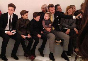 La famille Beckham au complet pour le défilé de Victoria