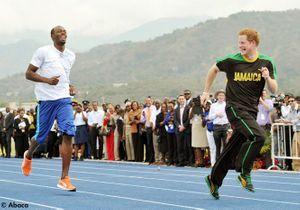 Le Prince Harry et Usain Bolt : la course inattendue