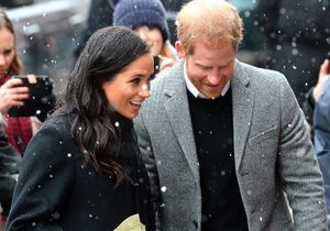Les jolies photos de Meghan Markle et le prince Harry sous la neige
