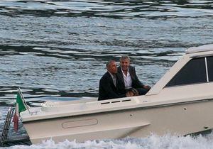 Les photos des vacances des Obama et George Clooney en Italie !
