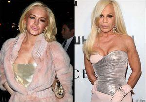Lindsay Lohan, la copie conforme de Donatella Versace ?