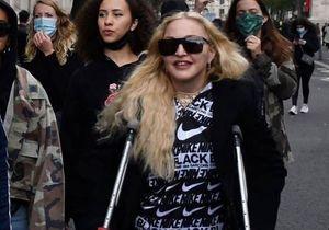 Madonna : en béquilles, elle rejoint les protestations anti-racistes de Londres