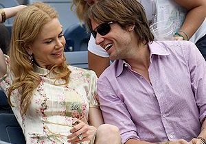 Nicole Kidman : look rétro pour soutenir Roger Federer