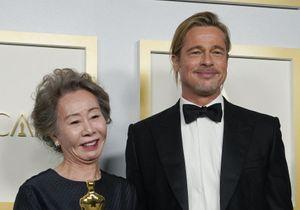 Oscars 2021 : Youn Yuh-jung tombe sous le charme de Brad Pitt