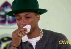 "Pharrell Williams est si ""Happy"" qu'il fond en larmes chez Oprah Winfrey"