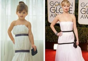 Quand une petite fille imite les stars sur tapis rouge