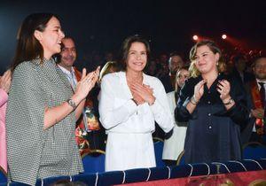 Stéphanie de Monaco accompagnée de ses deux filles Pauline Ducruet et Camille Gottlieb pour le Festival du cirque