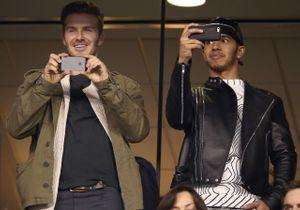 Super Bowl2014: David Beckham copine dans les gradins avec Lewis Hamilton!