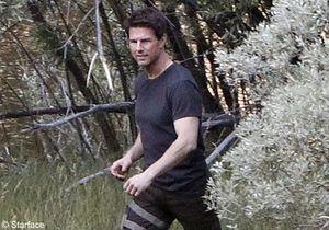 Tom Cruise : Il garde le sourire sur le tournage d'« Oblivion »