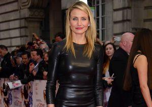 Le look du jour : Cameron Diaz ose la robe en cuir sur le tapis rouge