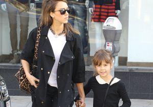 Le look du jour: Jessica Alba et sa fille Honor