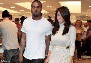 Le look du jour: Kanye West et Kim Kardashian