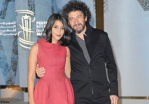 Leïla Bekhti et Radu Mihaileanu au festival du film de Marrakech