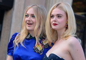 Dakota et Elle Fanning, deux soeurs stylées au défilé Miu Miu