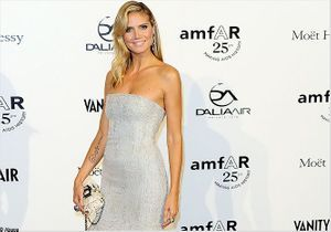 Heidi Klum ensorcellante au gala de l'AmfAR