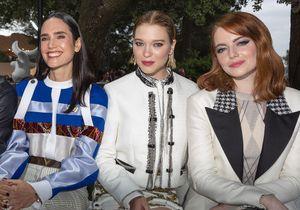 Léa Seydoux et Emma Stone, les stars du premier rang du défilé Louis Vuitton Croisière