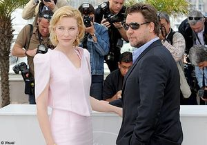 Russell Crowe et Cate Blanchett inaugurent le photo-call
