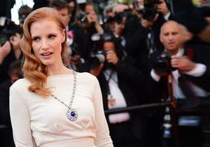 Jessica Chastain, divine sur les marches du Festival de Cannes