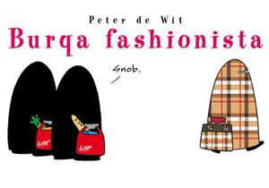 La burqa vue avec humour par le dessinateur Peter de Wit