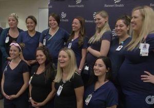 16 infirmières du même hôpital enceintes en même temps !
