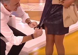 Découper la robe de sa coanimatrice en direct à la télé, c'est « marrant », vraiment ?