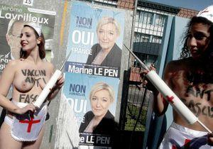 Des militantes Femen manifestent à Hénin Beaumont