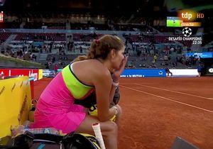 Du foot diffusé durant un match de tennis féminin : mais pourquoi ?