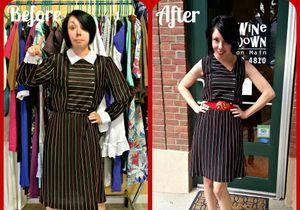 Elle transforme de vieux vêtements en tenues branchées