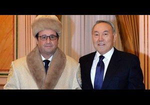 François Hollande au Kazakhstan: la photo qui amuse le web
