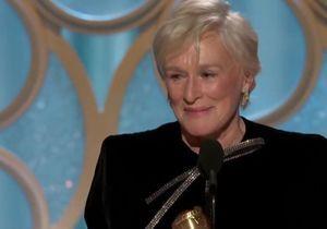 Glenn Close en larmes : standing ovation pour son discours si inspirant aux Golden Globes