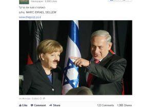La « moustache » d'Angela Merkel fait polémique en Israël