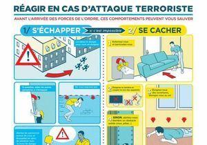 Le gouvernement indique comment réagir en cas d'attaque terroriste