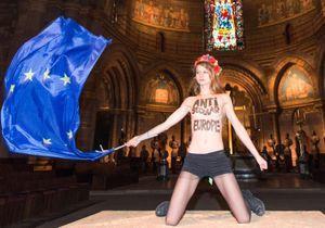 Les Femen poursuivent leur action contre la venue du Pape à Strasbourg