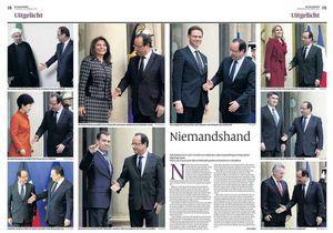 Les poignées de main «ratées» de Hollande sont un fake