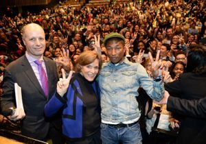 Mais que faisait Pharrell Williams à l'ONU ?