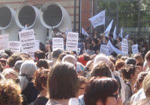 Manifestation féministe contre le sexisme tenu autour de l'affaire DSK