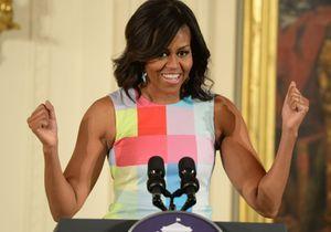 Michelle Obama : Elle répond au défi #GimmeFive de Barack Obama sur Twitter