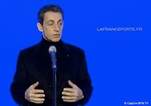 Présidentielle : Sarkozy a inauguré son QG de campagne