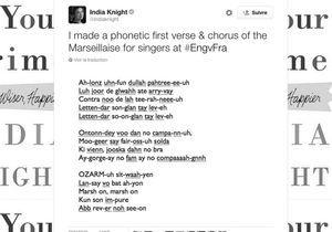 #PrêtàLiker : « La Marseillaise » en phonétique pour aider les Anglais à chanter