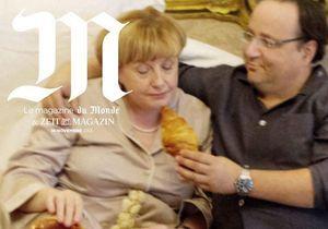 Quand Hollande fait manger un croissant à Angela Merkel