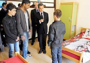Réinsertion scolaire : Sarkozy annonce de nouveaux internats
