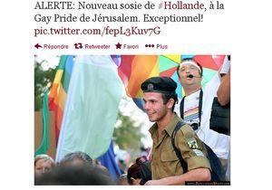 Un nouveau sosie de Hollande… à la Gay Pride de Jérusalem