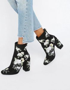 Miss Selfridge - Bottines brodées