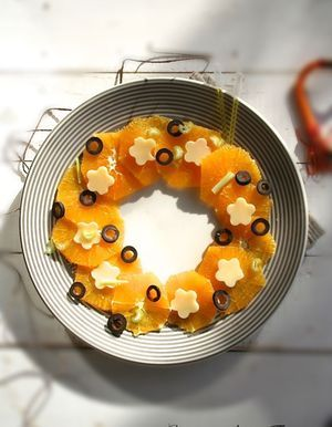 Salade d'orange salée