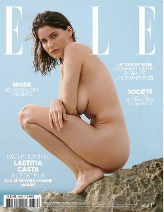 Quel est le secret du maquillage naturel de Laetitia Casta en couverture de ELLE ?