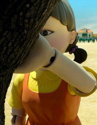 Squid Game : comment recréer le maquillage de la poupée géante pour Halloween ?